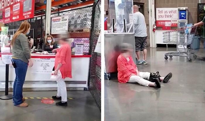 VIDEO Tvrdoglava žena nipošto nije htjela nositi masku, napravila je scenu u supermarketu