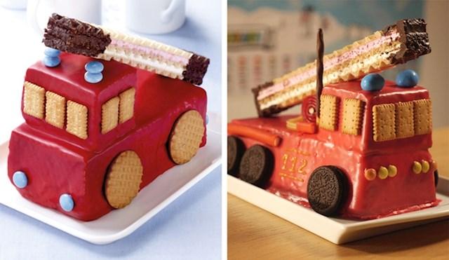 """""""Sin nam je imao rođendan pa smo naručili tortu u obliku vatrogasnog vozila. Izgledala je bolje od originala!"""""""