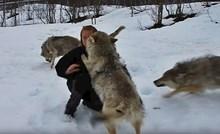 VIDEO Čopor vukova trčao je prema ženi, uslijedila je scena koju nitko ne bi očekivao
