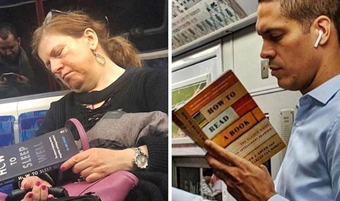 20 smiješnih slika ljudi koji su u javnom prijevozu čitali jako čudne stvari