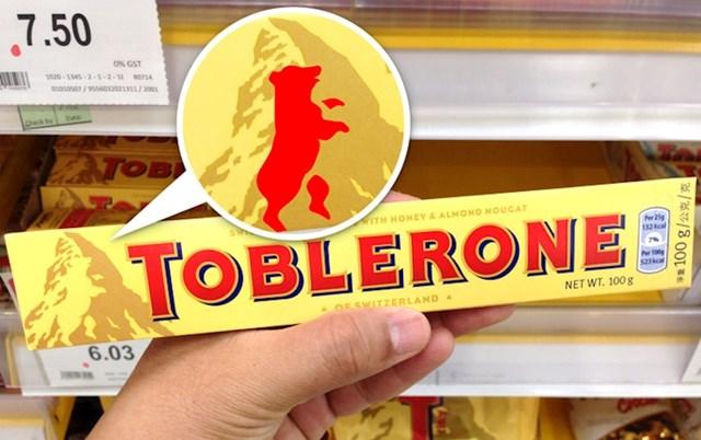 Jeste li skužili da se na planini, koja je na pakiranju Toblerone čokolade, može vidjeti sjena medvjeda?