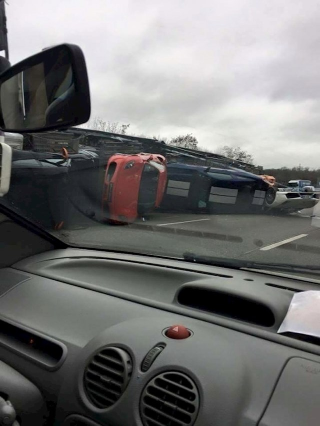 Vozač kamiona je gadno zaribao...