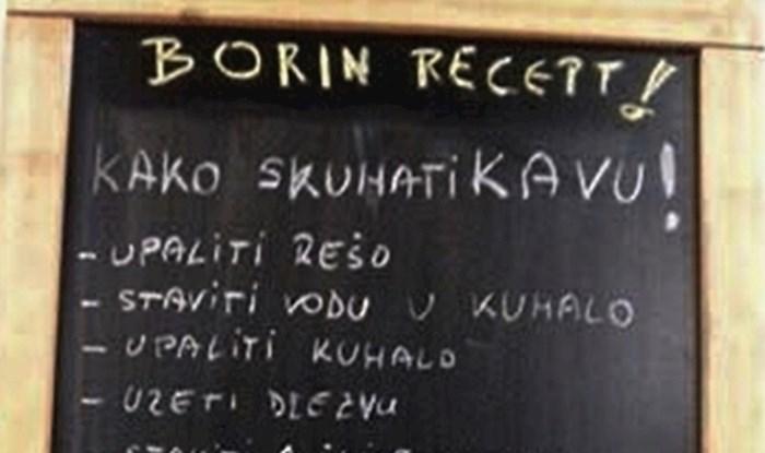 """""""Borin recept"""" nasmijao prolaznike: Je li ovaj čovjek lijeni ugostitelj ili je smislio kako lakše prodati kavu?"""