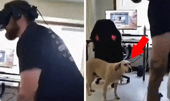 Pogledajte smiješnu reakciju psa koji je pomislio da mu je vlasnik skroz pukao