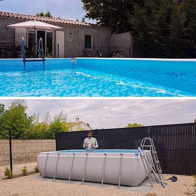 Apartman s bazenom je na slikama izgledao puno bolje.