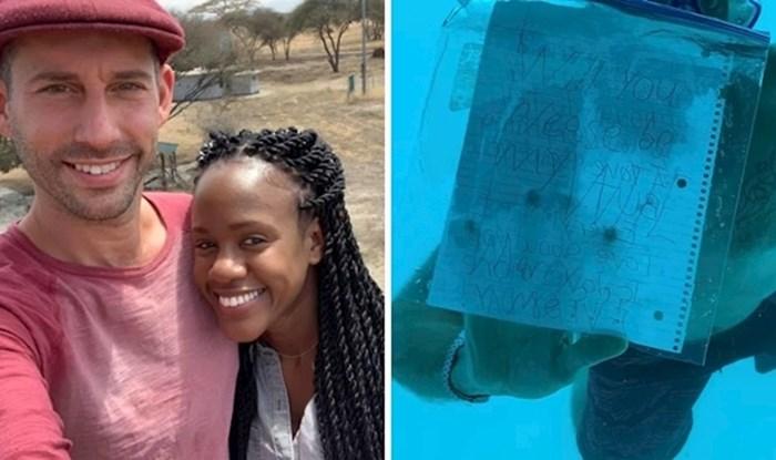 Djevojka slomljenog srca podijelila je poruku svoga dečka koji je umro tijekom podvodne prosidbe