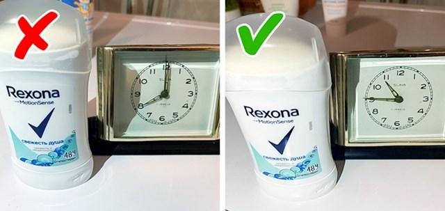 Dezodoranse najbolje nanosite nakon večernjeg tuširanja. Tako će ujutro pore biti zatvorene i manje ćete se znojiti.