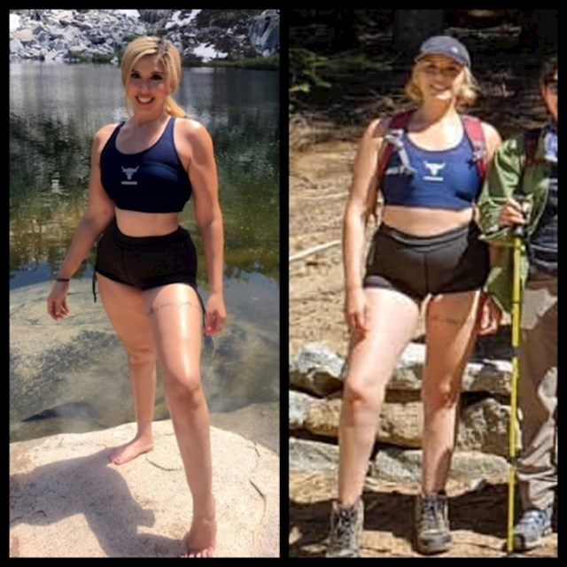 Možete li uopće povjerovati da je ovo ista osoba? Photoshopom uvijek suzi struk, a i ruke joj izgledaju mišićavije.