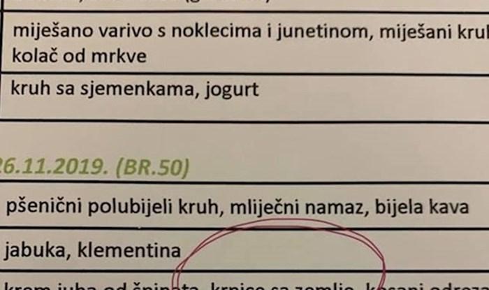 Ljudi se smiju jelovniku jednog zagrebačkog vrtića, razlog će i vas najprije malo zbuniti
