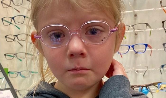 Klinka je plakala jer mora nositi naočale pa su joj ljudi počeli slati slike koje su joj popravile raspoloženje