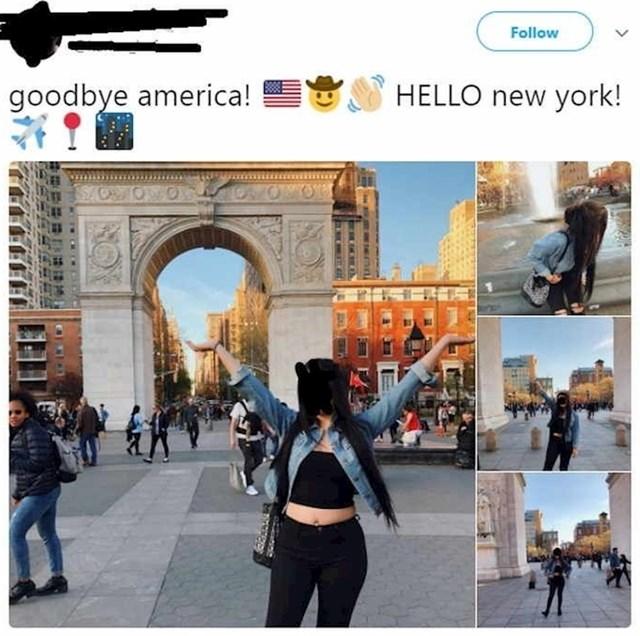 Mislila je da New York nije u SAD-u.