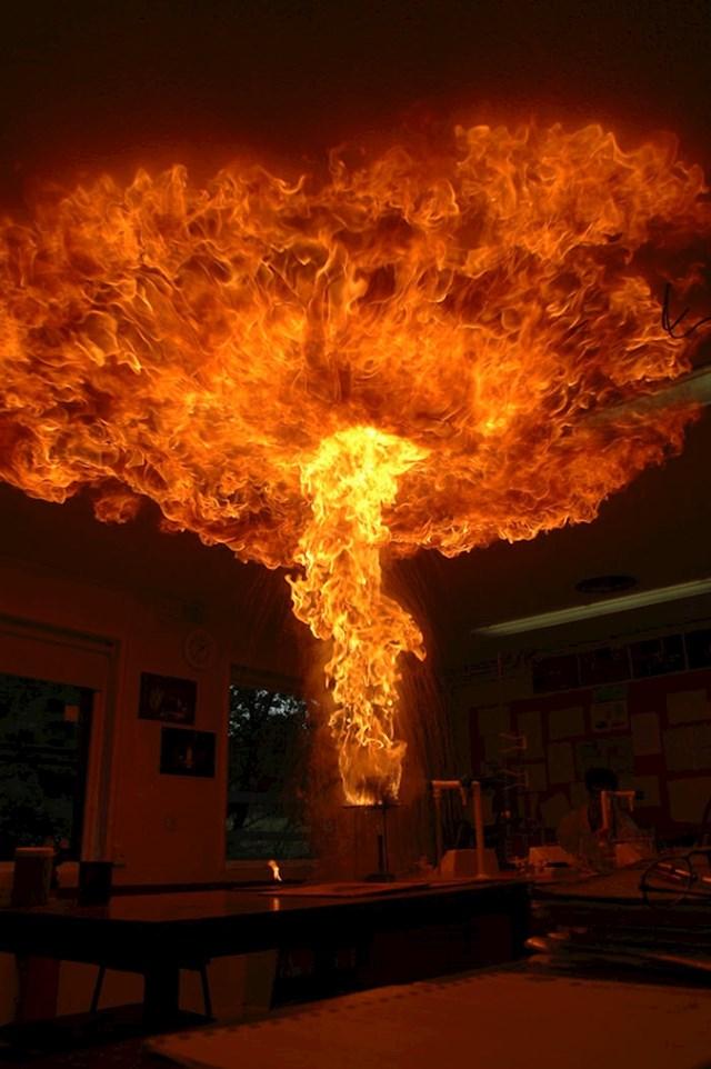 Što se dogodi kad se ulje zapali pa ga polijete vodom...