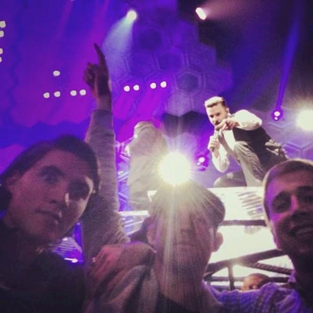 Slikali su se na koncertu Justina Timberlakea, kasnije su primijetili da ih je i on vidio.