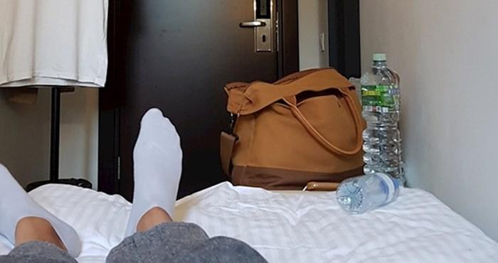 Gost je podijelio bizarnu fotku najmanje hotelske sobe u kojoj je ikad bio