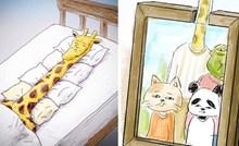 30 smiješnih ilustracija koje dokazuju da bi žirafe imale velike probleme kad bi pokušale živjeti kao ljudi