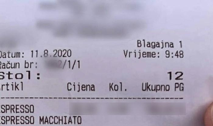 Ponovno je jedan račun začudio društvene mreže, pogledajte koliko su na Jadranu platili kavu