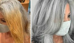 Umjesto da je skrivaju, klijentice kod ovog stilista naglašavaju sijedu kosu