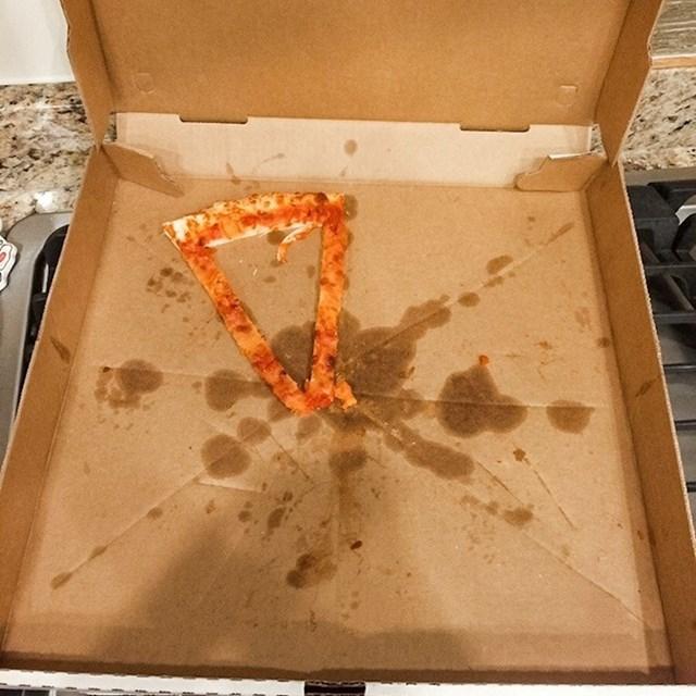 """""""Cimer je rekao da mi je ostavio komad pizze."""""""