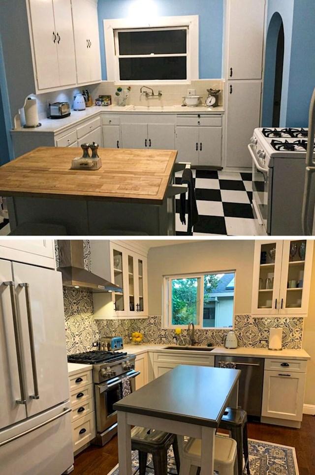 """""""Ovo je naša kuhinja prije i nakon renovacije."""""""