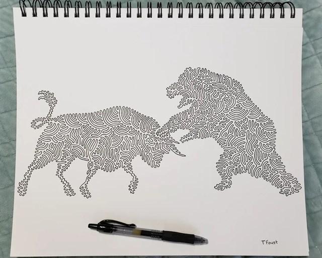 """""""Ovaj crtež sam nacrtao samo jednim potezom olovke (bez prekida i dizanja olovke)!"""""""