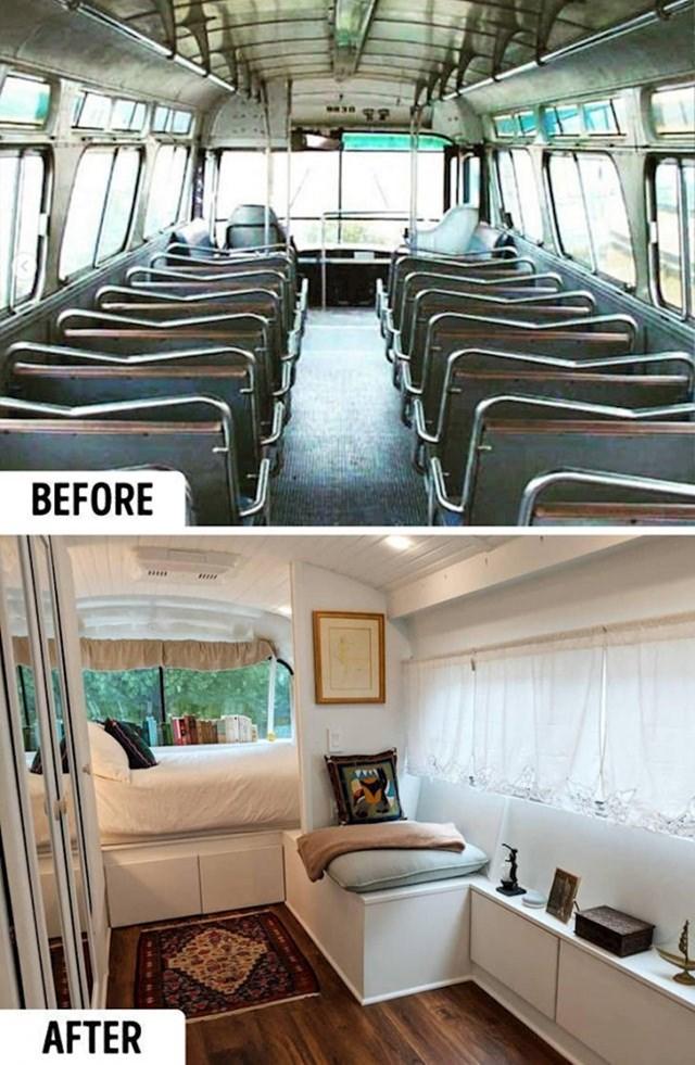 Djevojka je stari bus pretvorila u udoban mobilni dom.