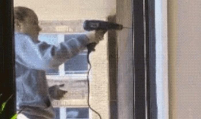 Plakat ćete od smijeha kad vidite kako je ova žena koristila električnu bušilicu