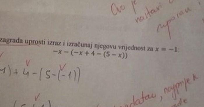 Učenik je na ispravljenom testu dobio poruku koja je mnoge oduševila