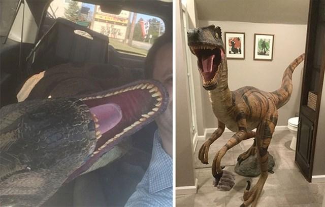 """""""Muž mi je vidio ovog dinosaura ispred jednog antikvarijata u Pennsylvaniji. Bili smo na poslovnom putu, no morali smo ga kupiti."""""""
