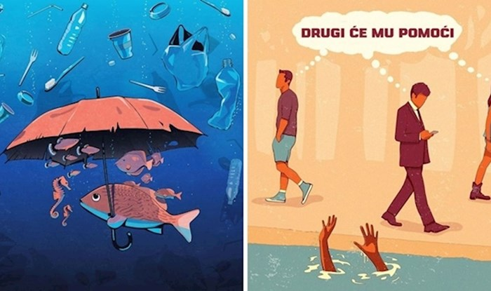 Umjetnik je svojim zanimljivim ilustracijama odlično prikazao zastrašujuće probleme današnjeg društva