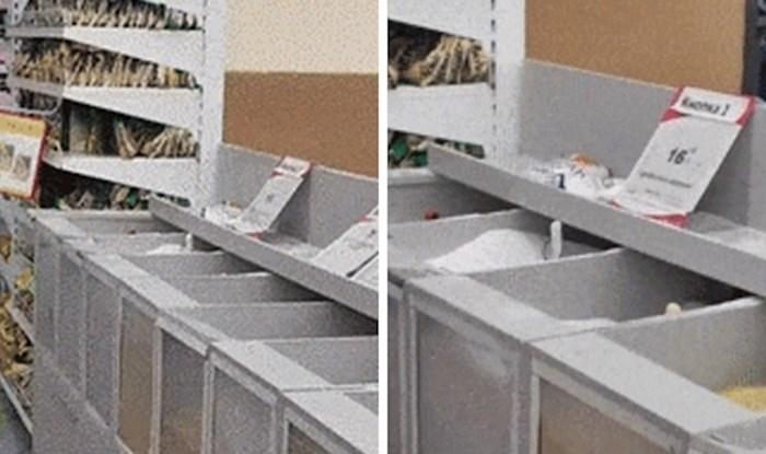 Kupac je u supermarketu ugledao prizor zbog kojeg je vjerojatno odustao od kupnje
