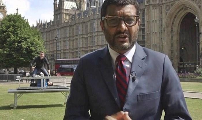 VIDEO Novinar je izvještavao uživo, iza njega se odvijalo nešto što je nasmijalo gledatelje