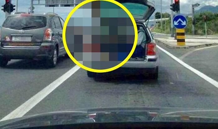 Netko je slikao čudan prizor na cesti i dokazao da je u Hrvatskoj sve moguće