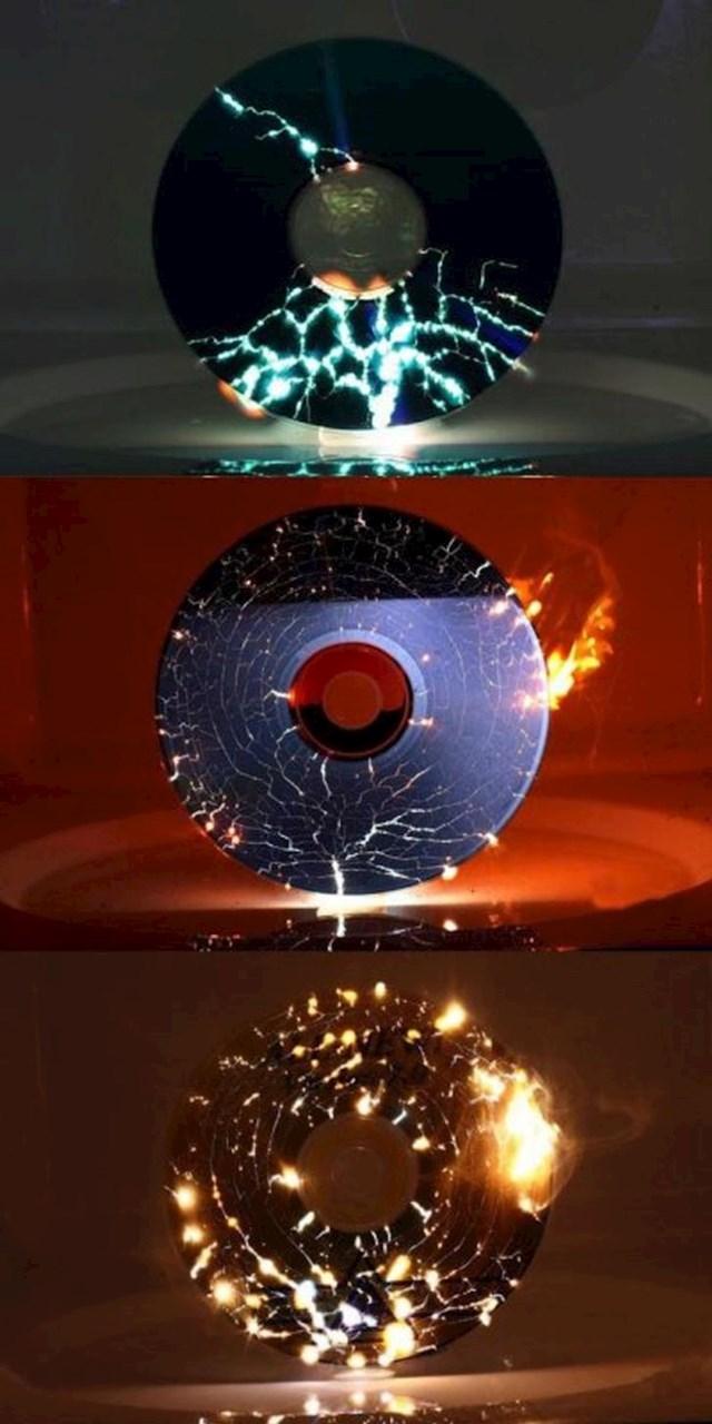 Evo što se dogodi kad CD stavite u mikrovalnu...
