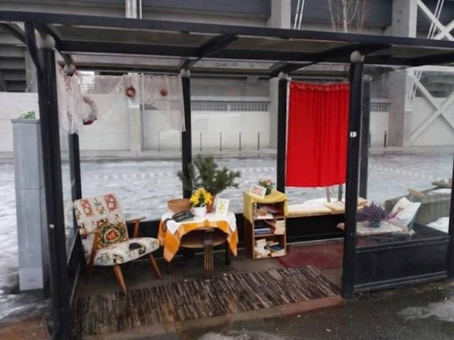 Udobna autobusna stanica u Norveškoj