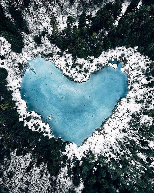 Jezerce koje izgleda kao srce