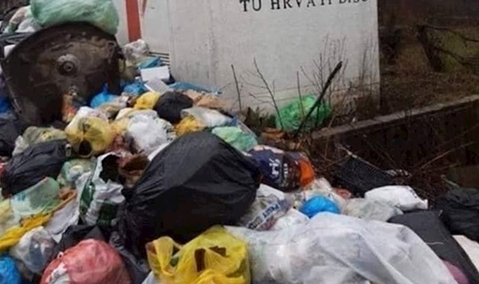 Ironičan prizor zgrozio prolaznike: Pa zemlji hrpa smeća, a na zidu poruka...
