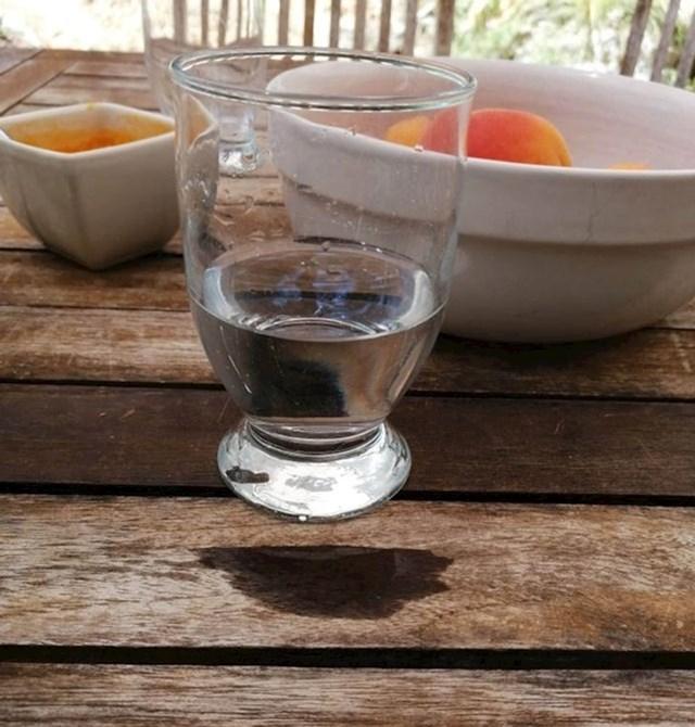 """""""Čaša je zbog mrlje od prolivene vode izgledala kao da lebdi."""""""