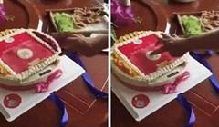Rekli su mu da stisne gumb na rođendanskoj torti, iznenađenje mu se svidjelo
