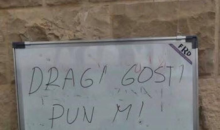 """Konobar iz Dalmacije je izgubio živce, evo što je poručio """"dragim gostima"""""""