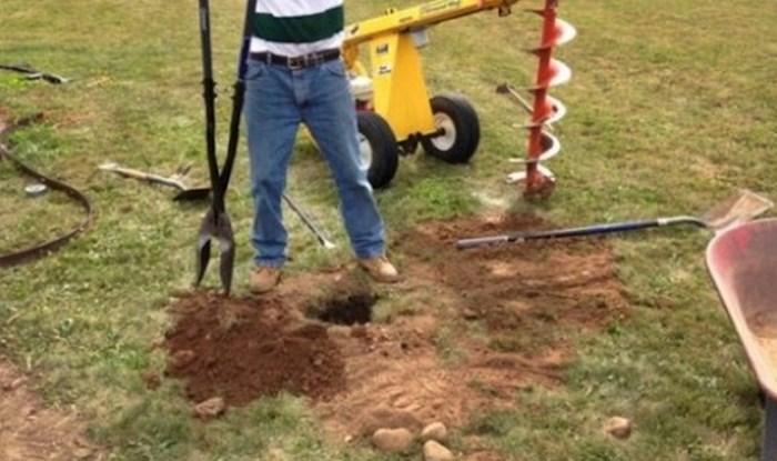 Čovjek je u dvorištu počeo kopati rupe, susjedi su bili ljubomorni kad su vidjeli što je napravio kraj bazena