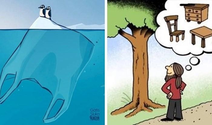 Ove ilustracije nažalost vrlo dobro pokazuju kako ljudi uništavaju sve oko sebe