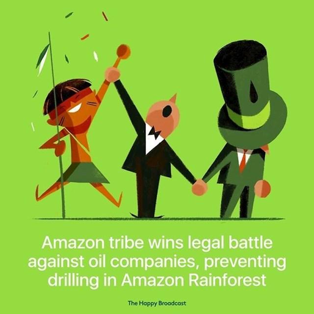 Amazonsko pleme pobijedilo je svoju pravnu bitku protiv velike naftne kompanije i spriječilo bušenje u amazonskoj prašumi.
