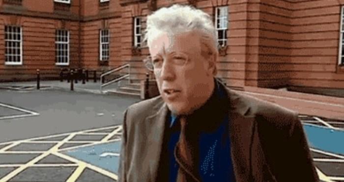 Davao je izjavu o ozbiljnoj temi, a onda ga je vjetar osramotio pred TV kamerom