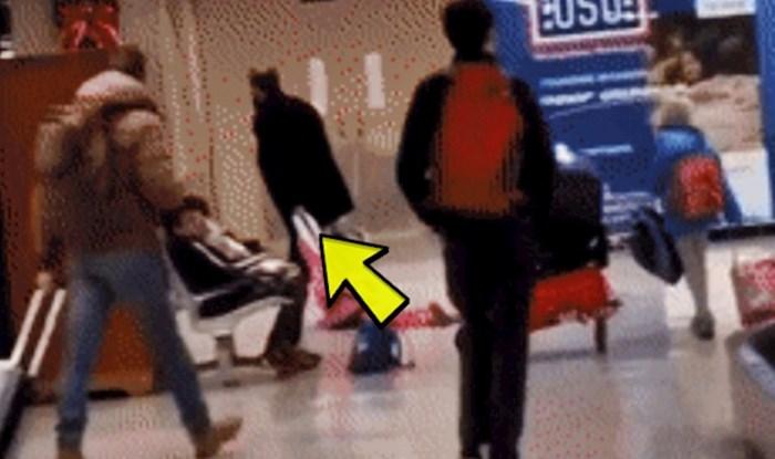 Ljudi nisu mogli vjerovati svojim očima kad su vidjeli ovog lika, pogledajte što je radio na zračnoj luci