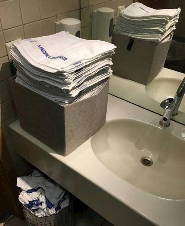 Ovaj shopping centar u Norveškoj umjesto papirnatih maramica koristi male jednokratne ručnike.