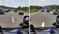 Na autocesti je bila gužva, vozač hitne pomoći snimio je kako Hrvati i turisti reagiraju na sirene