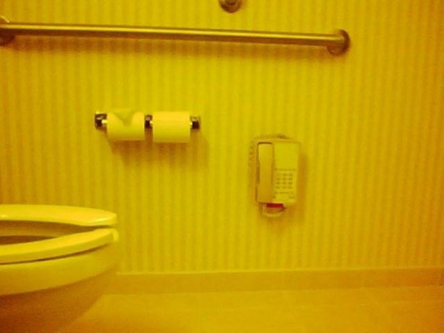 Ovaj hotelski WC je zapravo odličan za goste koji malo pretjeraju s pićem. Bez problema mogu ležati na pločicama i telefonirati.