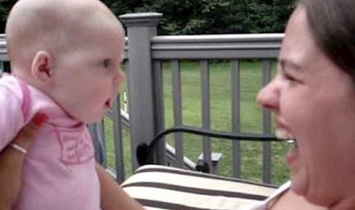 VIDEO Tetka je podigla svoju malu nećakinju, beba ju je svojom reakcijom nasmijala do suza