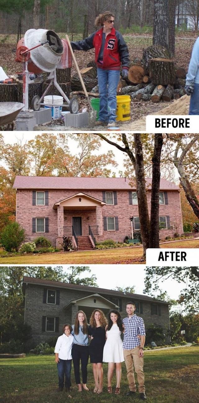 Ova žena je sama napravila kuću za svoju obitelj. Pratila je upute s YouTubea.