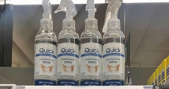 Pogledajte kako je ovaj supermarket spriječio da par osoba pograbi sva dezinfekcijska sredstva